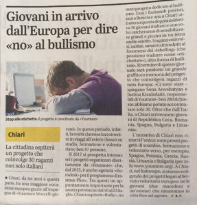 articolo del Giornale di Brescia del 7 giugno